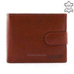 LA SCALA klasszikus, barna színű, minőségi férfi bőr pénztárca, melynek kialakítása férfiak számára ideális és igazán praktikus is!