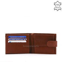 LA SCALA márkás férfi bőr pénztárca, mely nem csak divatos, de igazán minőségi és praktikus is! Patenttal zárható átkapcsolóval.
