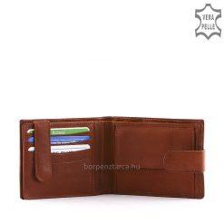 Klasszikus, barna színű, minőségi férfi bőr pénztárca, melynek kialakítása férfiak számára ideális és praktikus is! Fedelén La Scala logóval.