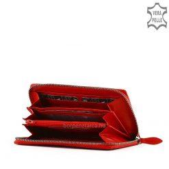Minőségi, valódi bőrből gyártott LA SCALA márkájú, nagy méretű női bőr pénztárca, amely divat kiegészítőként is kiváló modellünk.