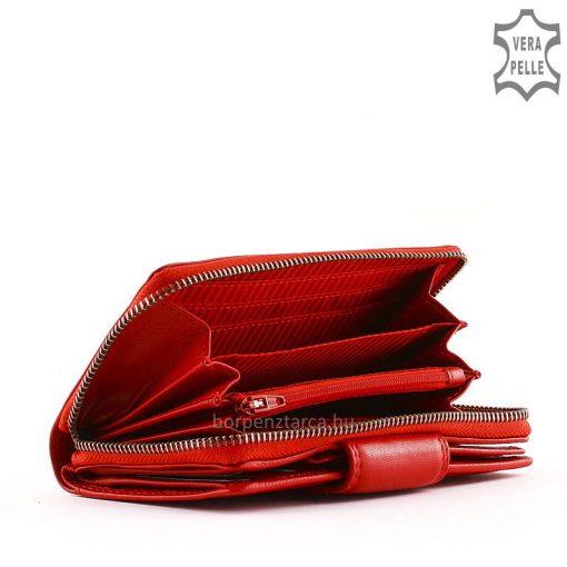 Minőségi valódi bőrből készült LA SCALA márkájú női bőr divat pénztárca, nagy méretű ezért igazán mutatós és kényelmesen használható modell.
