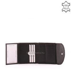 Minőségi valódi bőrből készült fekete színű Massimo férfi bőr pénztárca, amely kis méretű praktikus modellünk. Gyári garanciával biztosítva.