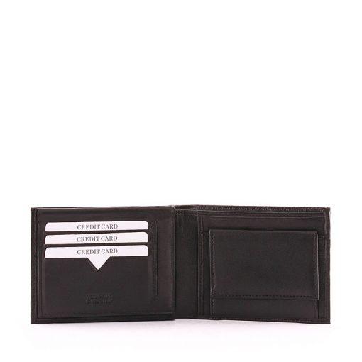 Minőségi igazi bőrbőlkészült S Belmonte bőr férfi pénztárca, mely nem csak igazán elegáns kinézetű, de igazán praktikus is!