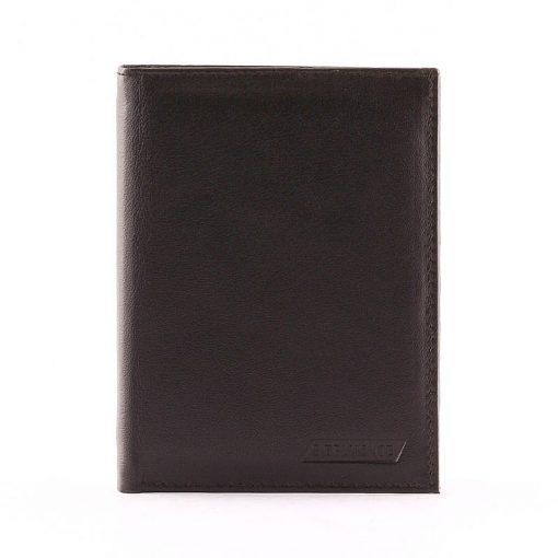 Minőségi kivitelben készültálló kivitelű irattartó bőr pénztárca fekete színben. Ennek a pénztárcának az anyaga puha tapintású nappa bőr.