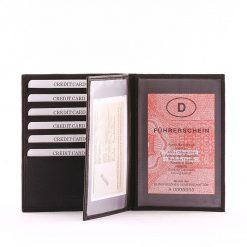 Minőségi bőrbőlkészült nagy méretű és praktikus bőr irattartó pénztárca, mely fekete színű S. Belmonte márkás modell.Garanciális modell.