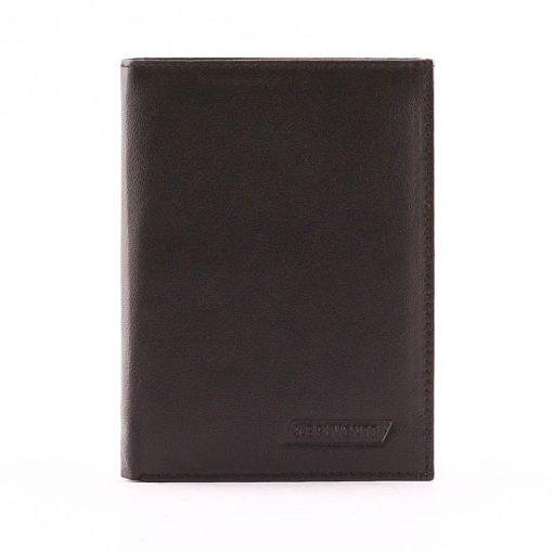 S. Belmonte márkás, ideális kivitelben készült, klasszikus fekete színű unisex valódi bőr irattartópénztárca. Igazán divatos modell.