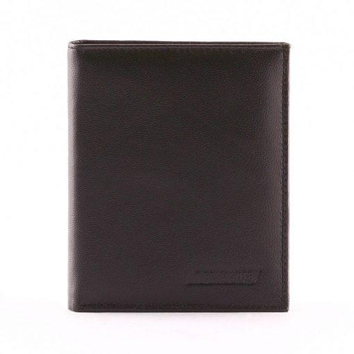 Minőségi álló kivitelben készültirattartó bőr pénztárca fekete színben. Ennek a pénztárcának az anyaga rendkívül puha tapintású nappa bőr.