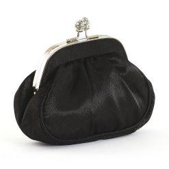 Elegáns szatén anyagból készített, minőségi női alkalmi táska kisméretű de roppant praktikus belsővel. Egyedi megjelenés, klasszikus színek.