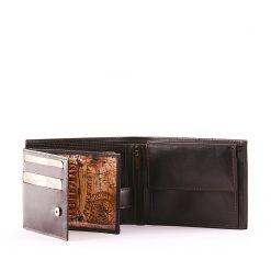 Minőségi, igazi bőrbőlkészültSynchrony márkás praktikus bőr férfi pénztárca modell, felületi dizájnja a legújabb divat szerinti.