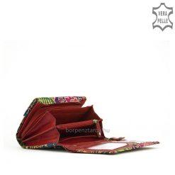 Minőségi valódi bőrből készült, különlegeskézzel festett mintás S Belmonte bőr női divat pénztárca. Kis méretű pénztárca modellünk.