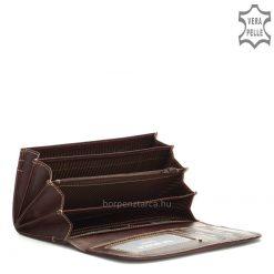 Minőségi, tartós valódi bőrbőlkészültLA SCALA fém logós női bőr pénztárca, melynek fedele elegáns patenttal zárható. Díszdobozba csomagolva