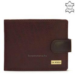 Márkás és elegáns megjelenésű, valódi bőrből készült LA SCALA minőségi bőr pénztárca, amelyet nagyon magas gyártási minőség jellemez.
