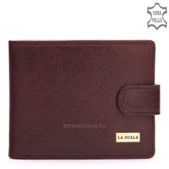 Kiváló minőségű, valódi bőrLA SCALA elegáns fém logós férfi bőr pénztárca, amelyet nagyon minőségi precíz gyártás jellemez.