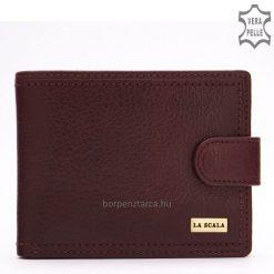 Minőségi, tartós valódi bőrből készült, elegáns LA SCALA fém logós férfi bőr pénztárca, amelyet nagyon magas gyártási minőség jellemez.