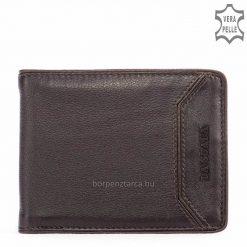 Minőségi kivitelben, tartós bőrből készült divatos LA SCALA márkájú férfi bőr pénztárca, mely a klasszikus vonalat képviseli.
