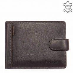 Minőségi kivitelben készült divatos LA SCALA férfi bőr pénztárca klasszikus külső átkapcsoló füllel, az extra biztonság érdekében.