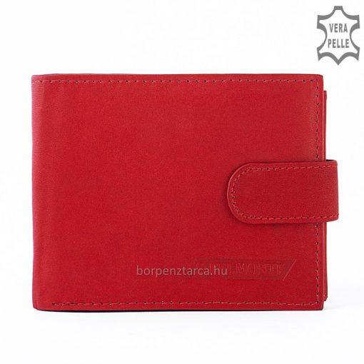 Kis méretű minőségi női bőr pénztárca igazi bőrből piros színben S. Belmonte márkacsaládtól. Patenttal zárható átkapcsolóval.
