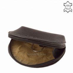 Puha valódi nappa bőrből készült kiváló minőségű bőr kulcstartó SLM márkajelzéssel, praktikus kisméretű modellünk. Válassza pénztárca mellé4