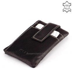 Puha valódi nappa bőrből készült nagyon praktikus használatot biztosító multifunkciós, fekete színű bőr kulcstartó. Akár ajándékba is!