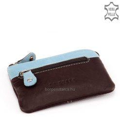 Kombinált barna színű, praktikus kisméretű bőr kulcstartó, puha minőségi nappa bőrből készítve LA SCALA márkajelzéssel. Többféle színben.