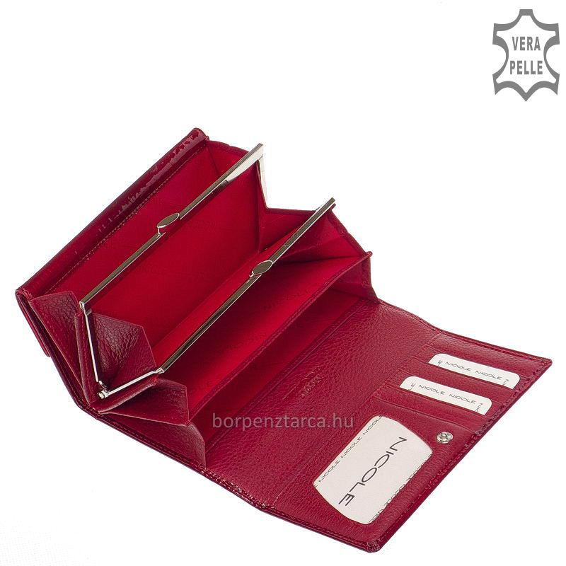 7313287c22d4 Nicole Croco keretes női pénztárca több felületi mintával C64003