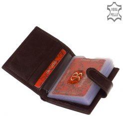 Akár a bőr pénztárca modellek, a kártyatartóhoz is puha nappa bőrt használtunk, mely női kártyatartó divatos színekben kapható.