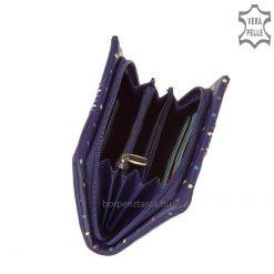 Márkás egyedi tervezésű, népszerű divatos színű csíkos-pöttyös, márkás női valódi bőr pénztárca, praktikus belsővel. Díszdobozba csomagolt!