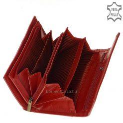 Elegáns LA SCALA fém logós, prémium kategóriájú puha valódi bőrből készült praktikus elrendezésű minőségi női bőr pénztárca.