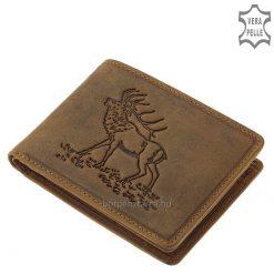 vadász férfi bőr pénztárca szarvas mintával