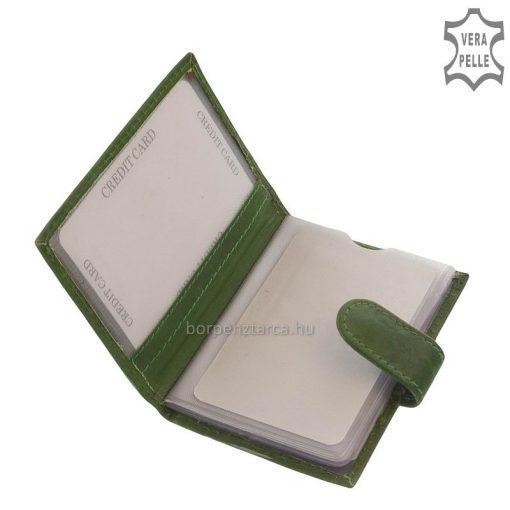 Minőségi valódi bőrből készült ez az S Belmonte márkás kis méretű bőr kártyatartó, kényelmes kialakítású álló formátumban.