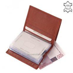 LA SCALA logós, álló kivitelű bőr kártyatartó rendkívül praktikus modell minőségi marhabőrből legyártva. Kis helyet foglaló minőségi termék.