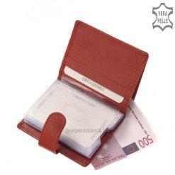 LA SCALA logós, álló kivitelű praktikus kis mérettel rendelkező bőr kártyatartó modell minőségi marhabőrből legyártva.