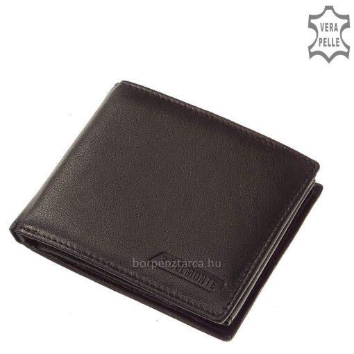 Rendkívül finom puha tapintású, kártyatartós fekete férfi bőr pénztárca valódi tartós bőrből, díszdobozba csomagolva így ajándéknak is kitűnő
