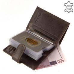 VESTER LUXURY márkájú, álló fazonú elegáns bőr kártyatartó díszdobozban, kiváló minőségű, valódi marhabőrből elkészítve.