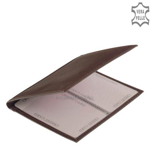 Igazi marhabőrből készült S Belmonte márkás, álló kialakítású minőségi bőr kártyatartó modell. Felületén S. Belmonte felirattal.