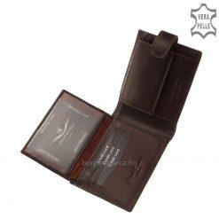 CORVO BIANCO márkajelűférfi bőr pénztárca minőségi elegáns selyemfényű bőrből, minőségi munkával legyártva fekete és barna színben.