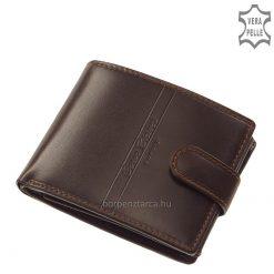 Magas színvonalon, minőségi bőr felhasználásával gyártott elegáns CORVO BIANCO LUXURY márkájú klasszikus és dekoratív férfi pénztárca bőrből.