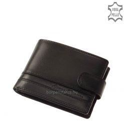 Kis méretű, igényes minőségű valódi bőrből gyártott CORVO BIANCO márkájú elegáns férfi bőr pénztárca fekete és barna színben.