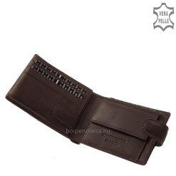 Praktikus, kis méretű VESTER bőr pénztárca kellemes tapintású minőségi bőrből elkészítve a sportos megjelenést kedvelő férfiaknak.