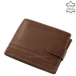 VESTER névvel logózott, klasszikus ugyanakkor sportos megjelenésű praktikus belső elrendezésű, dekoratív férfi bőr pénztárca.