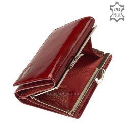 Fényes lakk bőrből készült piros színben pompázó, minőségi megjelenésű és felülető női bőr divat pénztárca. Díszdobozos termékünk!