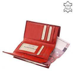 Exkluzív megjelenésű, divatos krokodil mintázattal díszített piros színű NICOLE divatos női lakk bőr pénztárca valódi bőrből készítve.