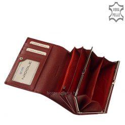 Prémium minőségű, dekoratív lakkozott bőrből készült piros női divat pénztárca, melynek mintázatát a krokodil bőr ihlette. Díszdobozban!