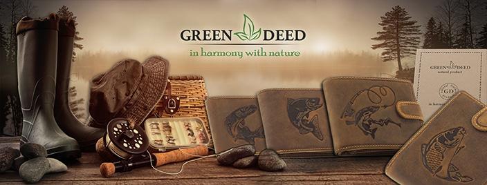 GreenDeed horgász pénztárca, fedelén a horgászok által kedvelt halfajtákat ábrázoló benyomással