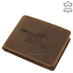 bőr pénztárca lovas mintával