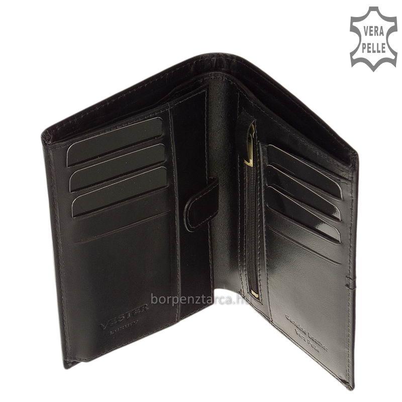 610c0a68db Vester bőr férfi irattartó pénztárca díszdobozban VCS826