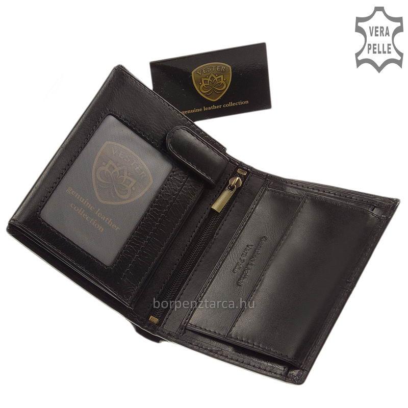 Vester bőr férfi irattartó pénztárca díszdobozban VCS475 c4294ea268