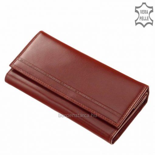 Minőségi valódi bőrből készült brifkó fazonú női bőr pénztárca, amely márkás S. Belmonte modelljeink közé tartozik. Nagy méretű modell.