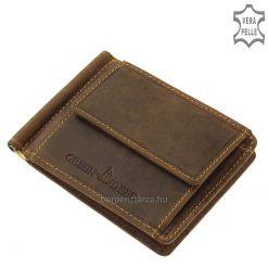 Sportos küllemű valódi bőr készítmény, a minőségi és praktikus megoldásokat kedvelő férfi vásárlóink számára készült dollár pénztárca.