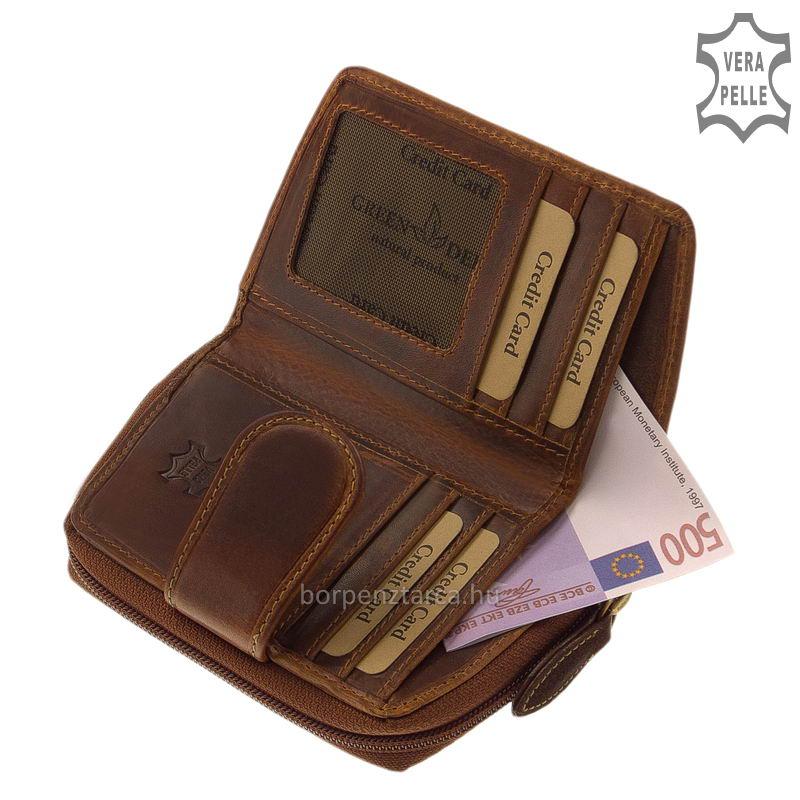 15d83e29cad9 GreenDeed Natural bőr női pénztárca KA04 - Bőrpénztárca Webáruház